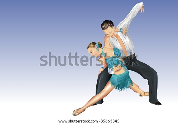 Professional Dancers. Dancing Couple. Dancing Competition.