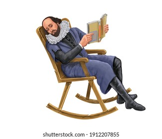 Professor reading book on the chair