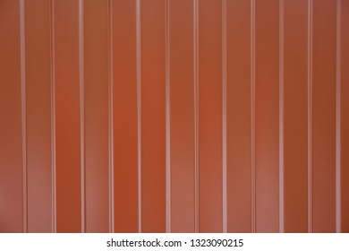 profiled fence brown texture