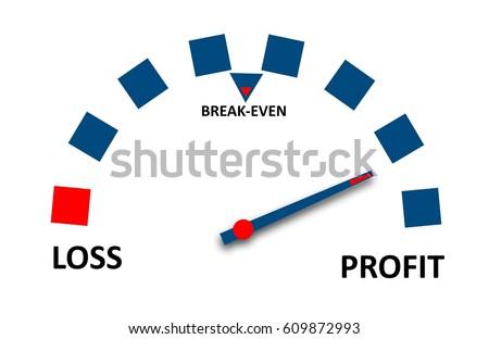 profit loss gaugeのイラスト素材 609872993 shutterstock