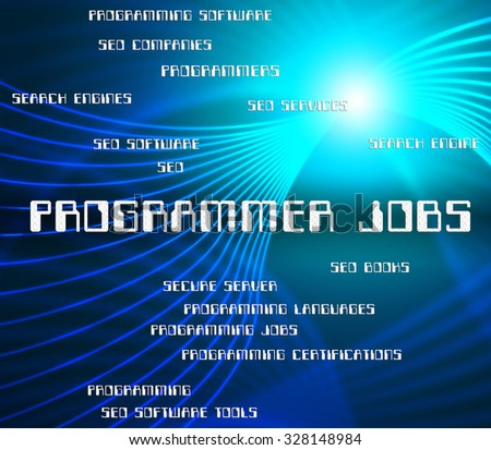 Royalty Free Stock Illustration Of Programmer Jobs Indicating