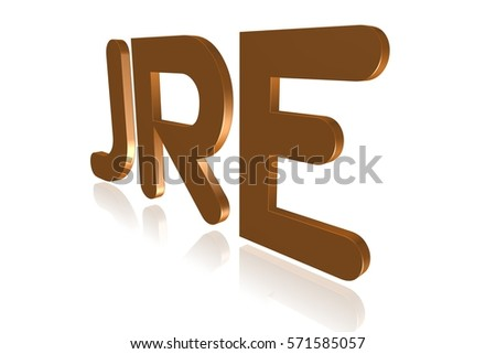 Programming Term Jre Java Runtime Environment Stock Illustration