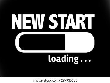 Progress Bar Loading with the text: New Start