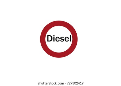Prohibition sign for diesel