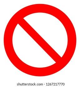 prohibition symbol,white background