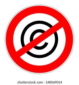 prohibition traffic sign no copyrights