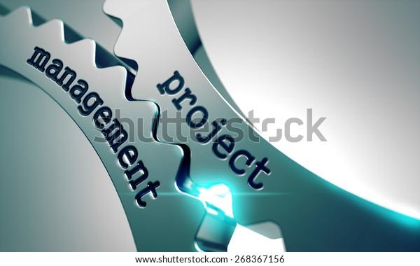 Projektleitung Konzept für den Mechanismus der Metall-Zahnräder.