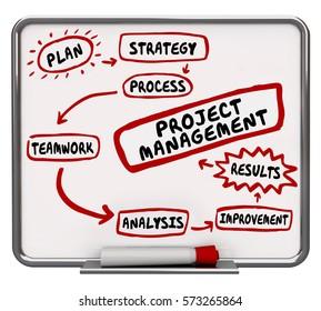 Project Management Workflow Process Diagram 3d Illustration