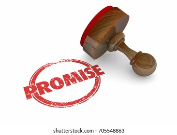 Promise Stamp Guarantee Vow Word 3d Illustration
