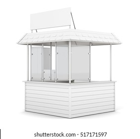 Promo counter isolated on white background. 3d rendering.