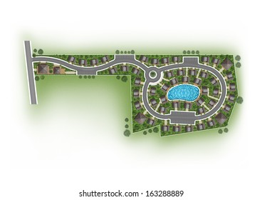 Proposal of planning house with with green area