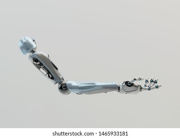 Prosthetic robotic arm, 3d rendering