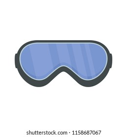 Protect goggles icon. Flat illustration of protect goggles icon for web isolated on white