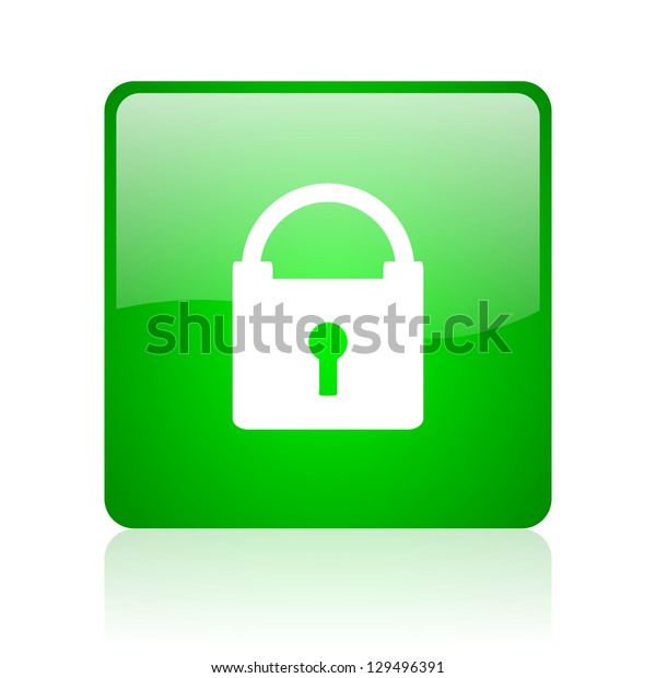 protect green square web icon on white background
