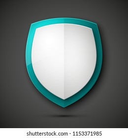Protected guard shield concept. Safety badge color icon. Privacy colorful banner shield. Security label. Defense tag. Presentation shining sticker shield. Defense safeguard sign illustration
