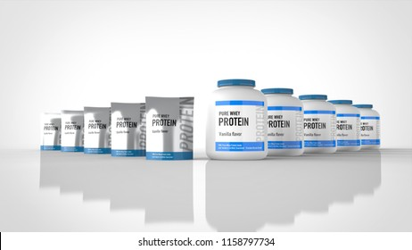 protein packages 3d rendering