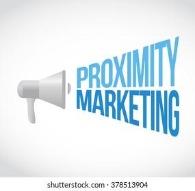 proximity marketing megaphone message concept illustration design graphic