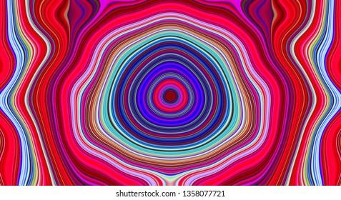 Psychedelic abstract pattern and hypnotic background, multicolored texture for trend art,  illustration hippie.