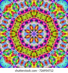 psychedelic background. bright colorful patterns. background screensaver..Magic graphics.