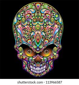 Psychedelic Skull Pop Art Design