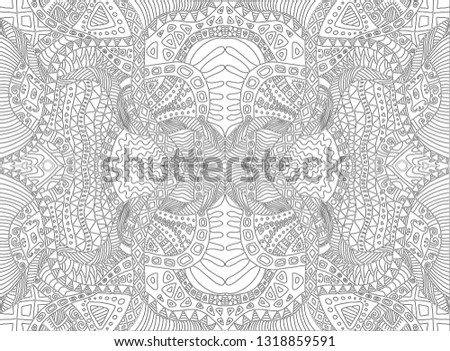 Royalty Free Stock Illustration of Psychedelic Tribal Surreal Doodle ...