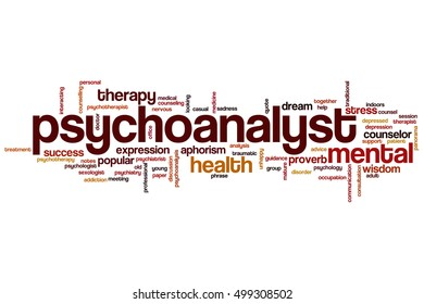 Psychoanalyst word cloud concept