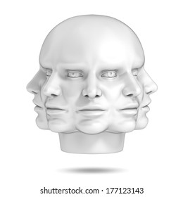 psychology, abstract human head 3d concept