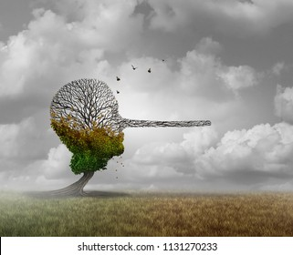Psychology of lie and compulsive lying damaging to human mental and physical health idea as a psychiatric or psychological liar syndrome with 3D illustration elements.