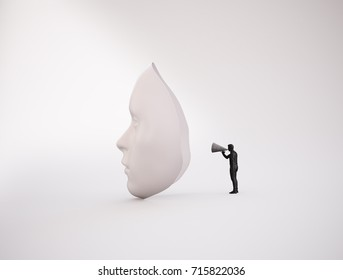 Psychology and mental health concept illustration - 3D rendering
