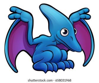 A pterodactyl dinosaur animals cartoon character
