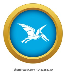 Pterosaurs dinosaur icon blue isolated on white background for any design
