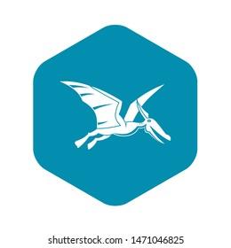 Pterosaurs dinosaur icon. Simple illustration of pterosaurs dinosaur icon for web