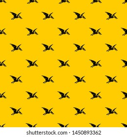 Pterosaurs dinosaur pattern seamless repeat geometric yellow for any design