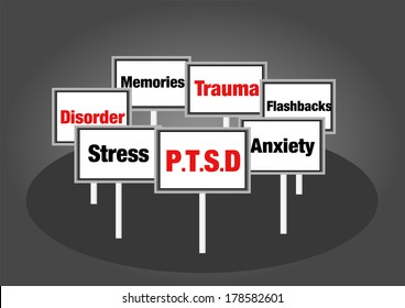 PTSD concept signs mental health