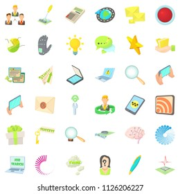 Publicist icons set. Cartoon set of 36 publicist icons for web isolated on white background