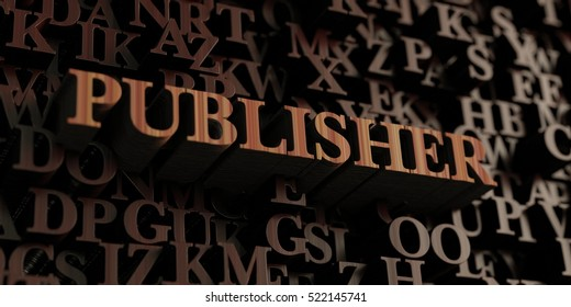 Publisher - Wooden 3D rendered letters/message.  Can be used for an online banner ad or a print postcard.