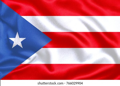 Puerto Rico Fabric Flag