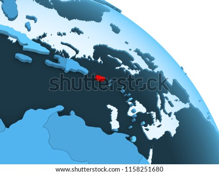Royalty Free Stock Illustration Of Puerto Rico Highlighted On Blue 3