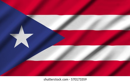 Puerto Rico Waving Flag