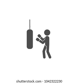 pugilist icon.Element of popular fitness  icon. Premium quality graphic design. Signs, symbols collection icon for websites, web design, on white background on white background