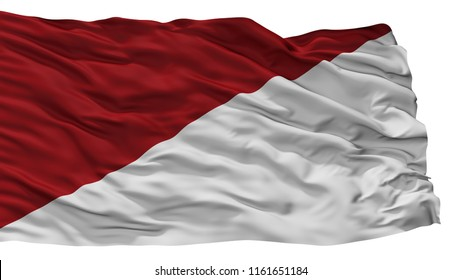 Puli City Flag, Country Colombia, Isolated On White Background