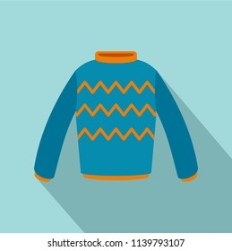 Pullover icon. Flat illustration of pullover icon for web design