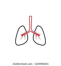 Pulmonology 2 colored line icon. Simple colored element illustration. Pulmonology icon design from medicine set