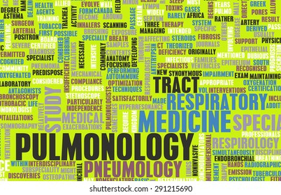 Pulmonology or Pulmonologist Medical Field Specialty As Art background