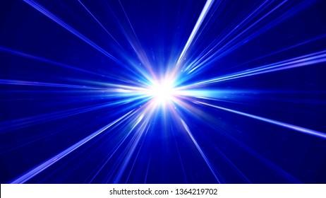 pulses star ray abstract