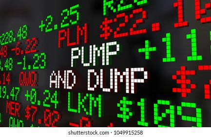 Pump and Dump Buy Sell Stocks Market Ticker 3d Illustration