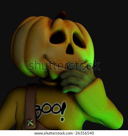 Halloween Maan.Pumpkin Halloween Man Stock Illustration Royalty Free