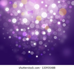 Puple abstract glowing bokeh background