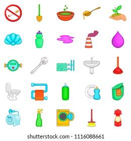 Purge icons set. Cartoon set of 25 purge icons for web isolated on white background