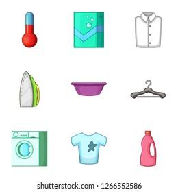Purge icons set. Cartoon set of 9 purge icons for web isolated on white background